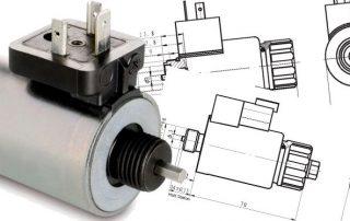the design diagrams of hydraulic solenoid